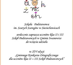 Gminny konkurs ortograficzny dla uczniów klas II-III szkół podstawowych – XIV edycja