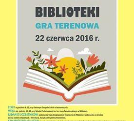"""Gra terenowa pt. ,,Na tropie biblioteki"""" – zaproszenie"""