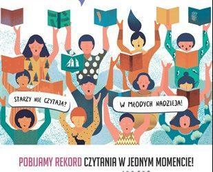 """,,Jak nie czytam, jak czytam """" – ogólnopolska akcja masowego czytania w naszej Gminie."""