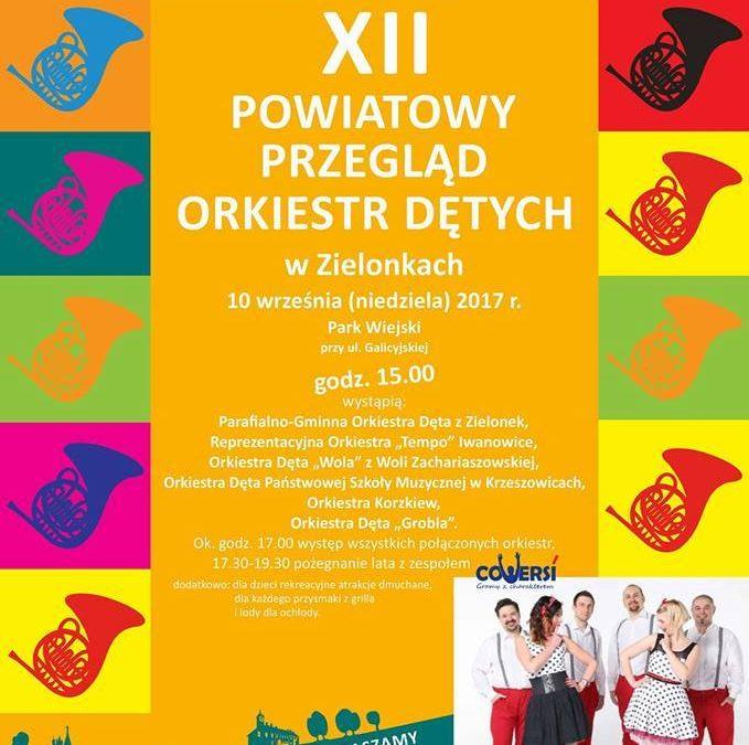 Zaproszenie na XII Powiatowy Przegląd Orkiestr Dętych