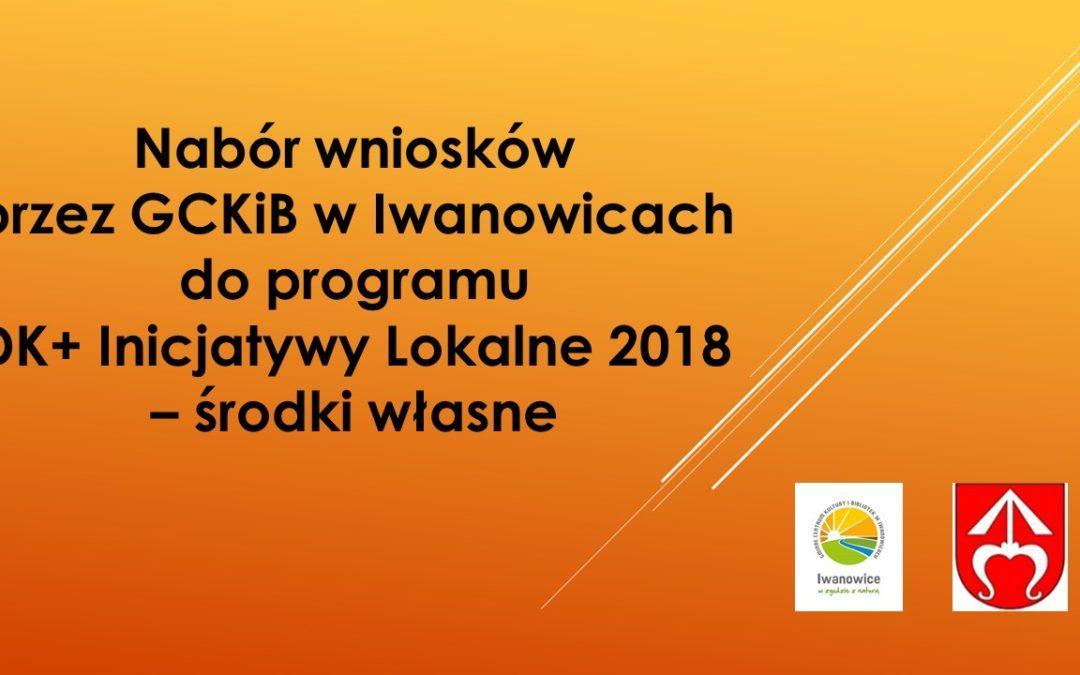 Nabór wniosków do programu DK+ 2018 – środki własne