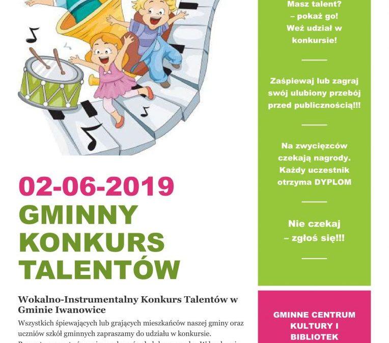 Gminny Konkurs Talentów – zapraszamy do udziału!!!