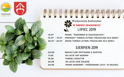 Kalendarz wydarzeń – okres wakacyjny