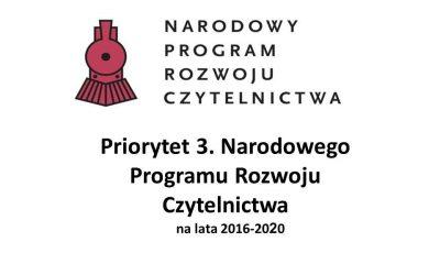 Dotacja na zakup nowości czytelniczych dla Biblioteki w Iwanowicach.