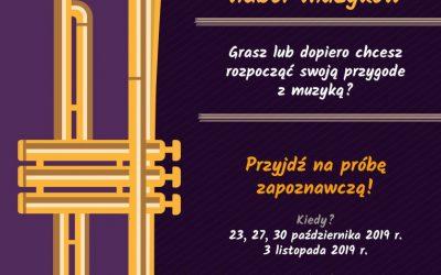 """Nabór do Orkiestry Dętej """"Hejnał"""" z Sieciechowic."""