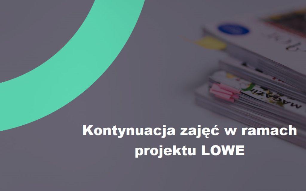 LOWE – Harmonogram zajęć