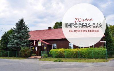 Biblioteka w Iwanowicach oraz Filie Biblioteki w Sieciechowicach i w Widomej – NIECZYNNE