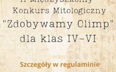 """II Międzyszkolny Konkurs Mitologiczny """"Zdobywamy Olimp"""""""