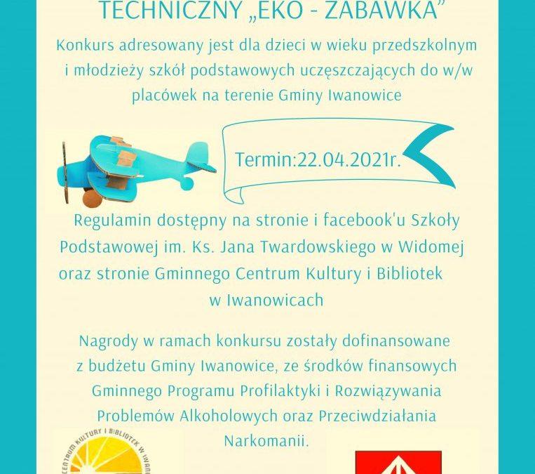"""I GMINNY KONKURS PLASTYCZNO-TECHNICZNY """"EKO – ZABAWKA"""""""