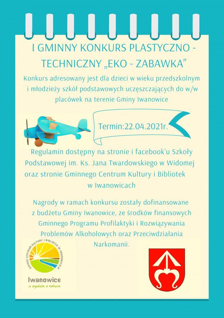 Plakat promujący konkurs na eko-zabawkę