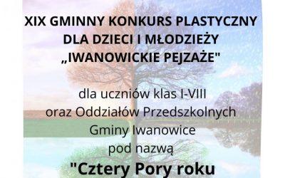 Wyniki XIX Gminnego Konkursu Iwanowickie pejzaże