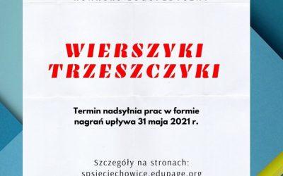 """""""WIERSZYKI TRZESZCZYKI"""" – konkurs logopedyczny."""