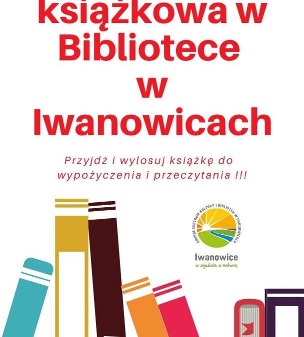 Loteria książkowa w Bibliotece w Iwanowicach.