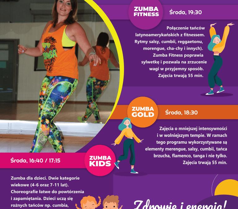 Zajęcia ZUMBA Fitness, ZUMBA Kids i ZUMBA Gold – nabór przedłużony do 31 maja 2021 r.