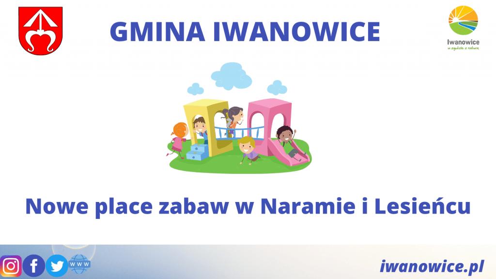Place zabaw w Naramie i Lesieńcu