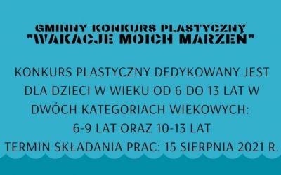 """UWAGA – Konkurs plastyczny!  """"Wakacje moich marzeń"""""""
