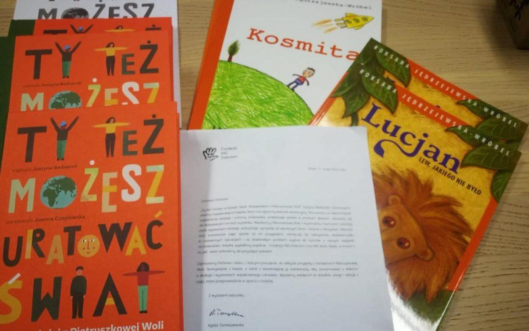 Książki z Fundacji ING Dzieciom dostępne w Bibliotece.