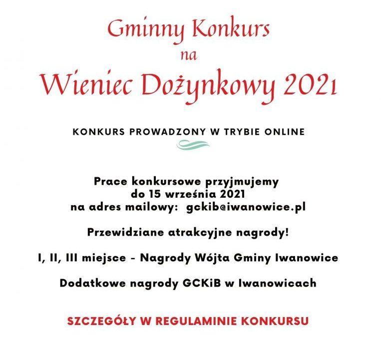 GMINNY KONKURS NA WIENIEC DOŻYNKOWY 2021